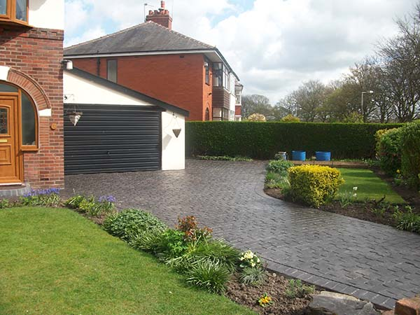 Pattern Imprinted Concrete Driveway Example