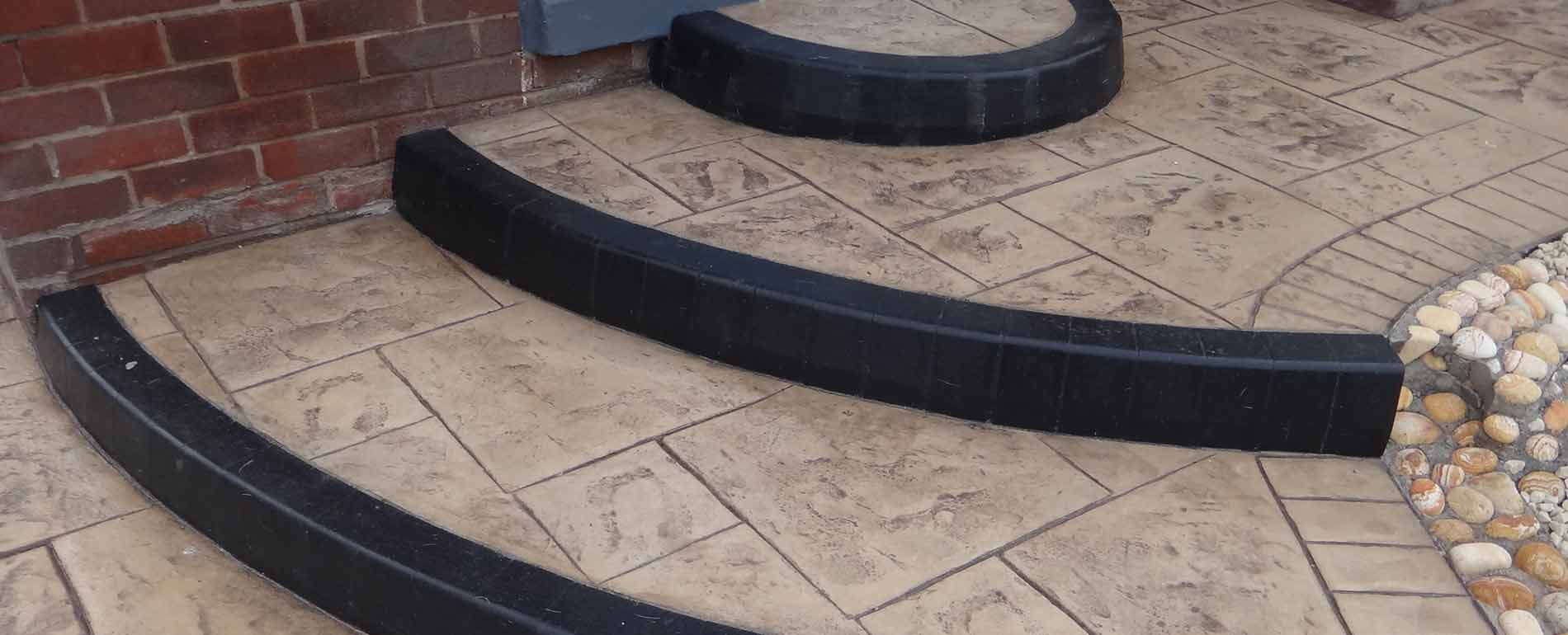 Pattern Imprinted Concrete Steps