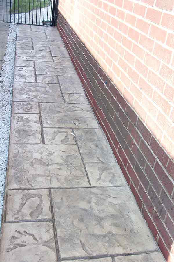 Pattern Imprinted Concrete Pathways Manchester