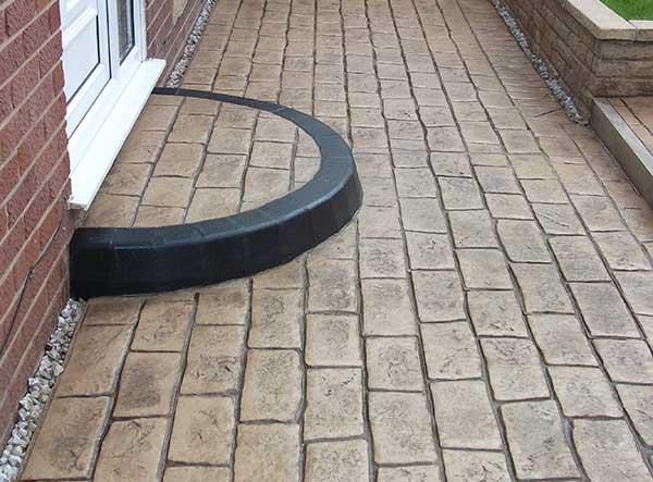 Patterned Concrete Steps