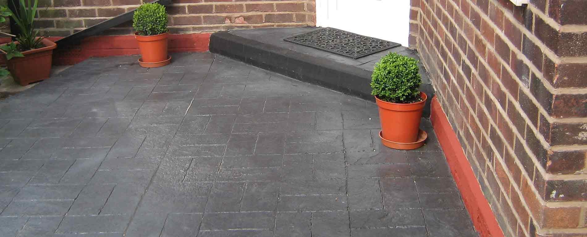 Pattern Imprinted Concrete Steps